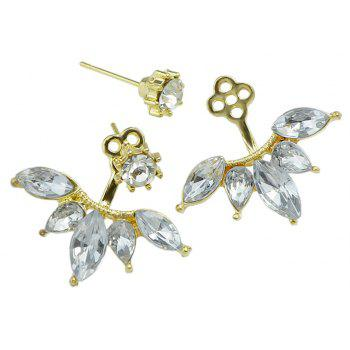 Full Rhinestone Earrings Jewelry For Women - GOLD