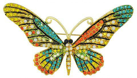 Colorful Rhinestone Butterfly Brooch Pins For Women - multicolor A