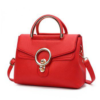 Fashion Ring Shoulder Messenger Bag Hadbag - LOVE RED