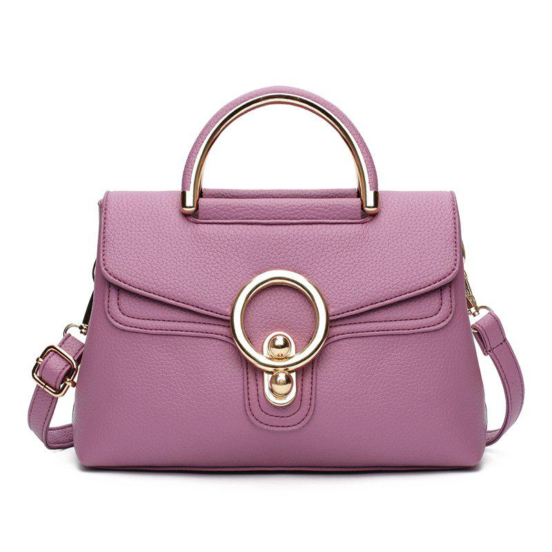 Fashion Ring Shoulder Messenger Bag Hadbag - LILAC