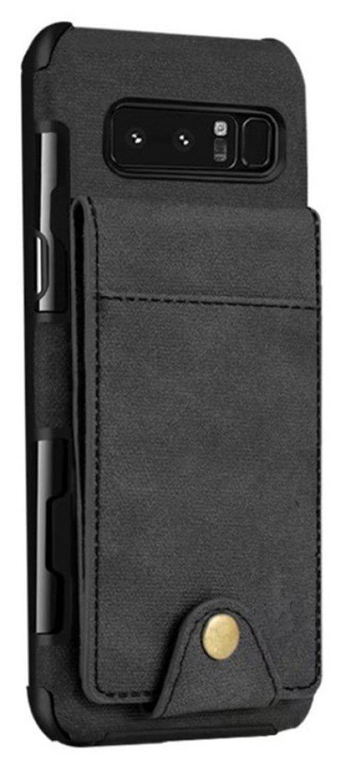 Cover Case For Samsung Galaxy Note 8  Card Holders Phone Shells - BLACK