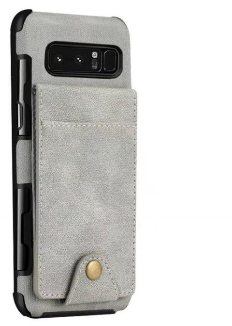 Cover Case For Samsung Galaxy Note 8  Card Holders Phone Shells - LIGHT GRAY