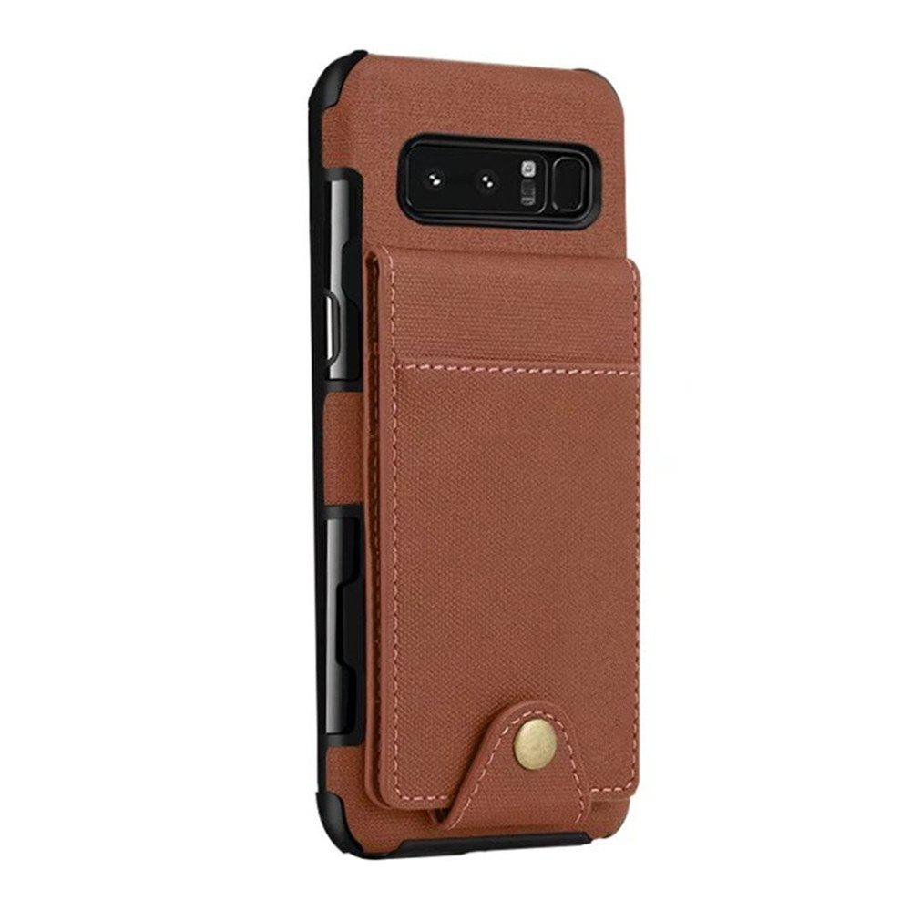 Cover Case For Samsung Galaxy Note 8  Card Holders Phone Shells - BROWN