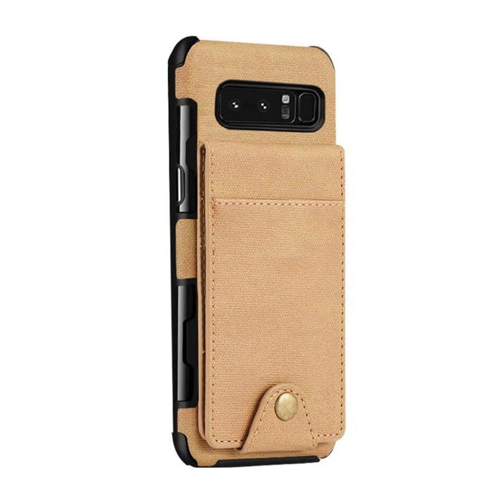 Cover Case For Samsung Galaxy Note 8  Card Holders Phone Shells - CAMEL BROWN
