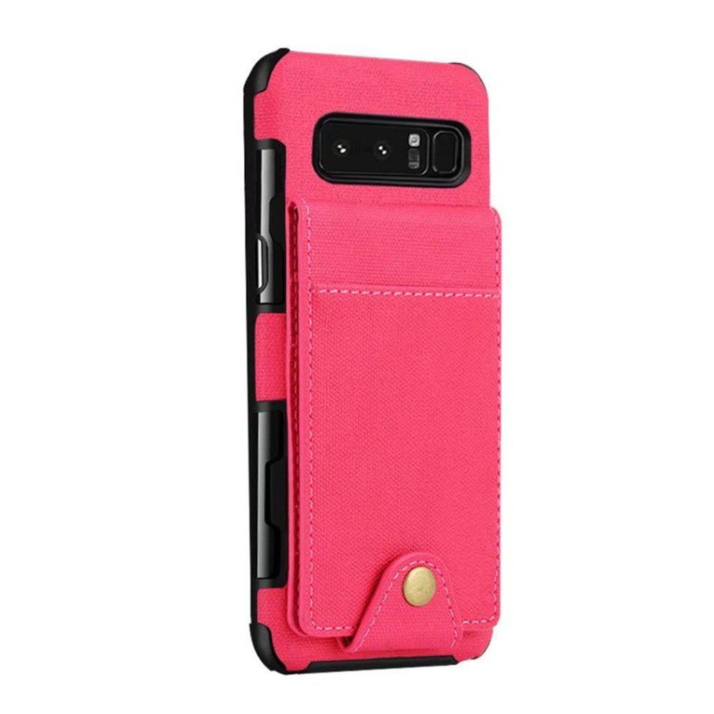 Cover Case For Samsung Galaxy Note 8  Card Holders Phone Shells - BEAN RED