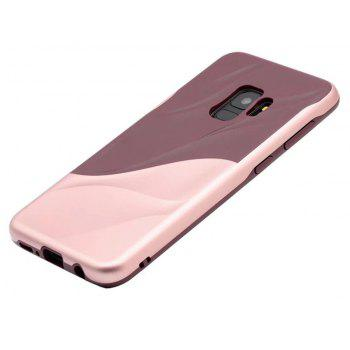 Cover Case for Samsung S9 Silicone TPU+PC Hybrid Protective Water Ripples - ROSE GOLD