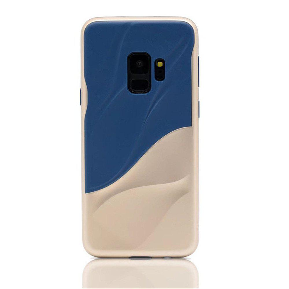 Cover Case for Samsung S9 Silicone TPU+PC Hybrid Protective Water Ripples - GOLD