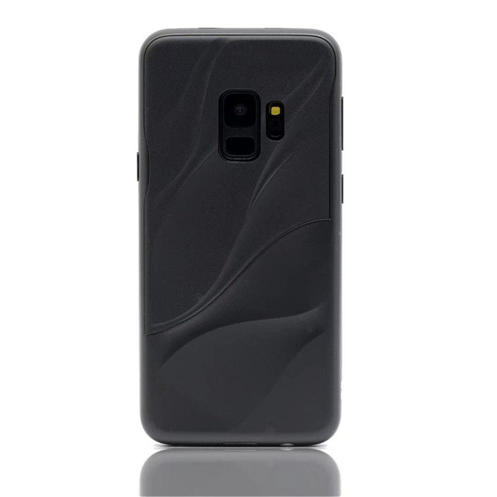 Cover Case for Samsung S9 Silicone TPU+PC Hybrid Protective Water Ripples - BLACK