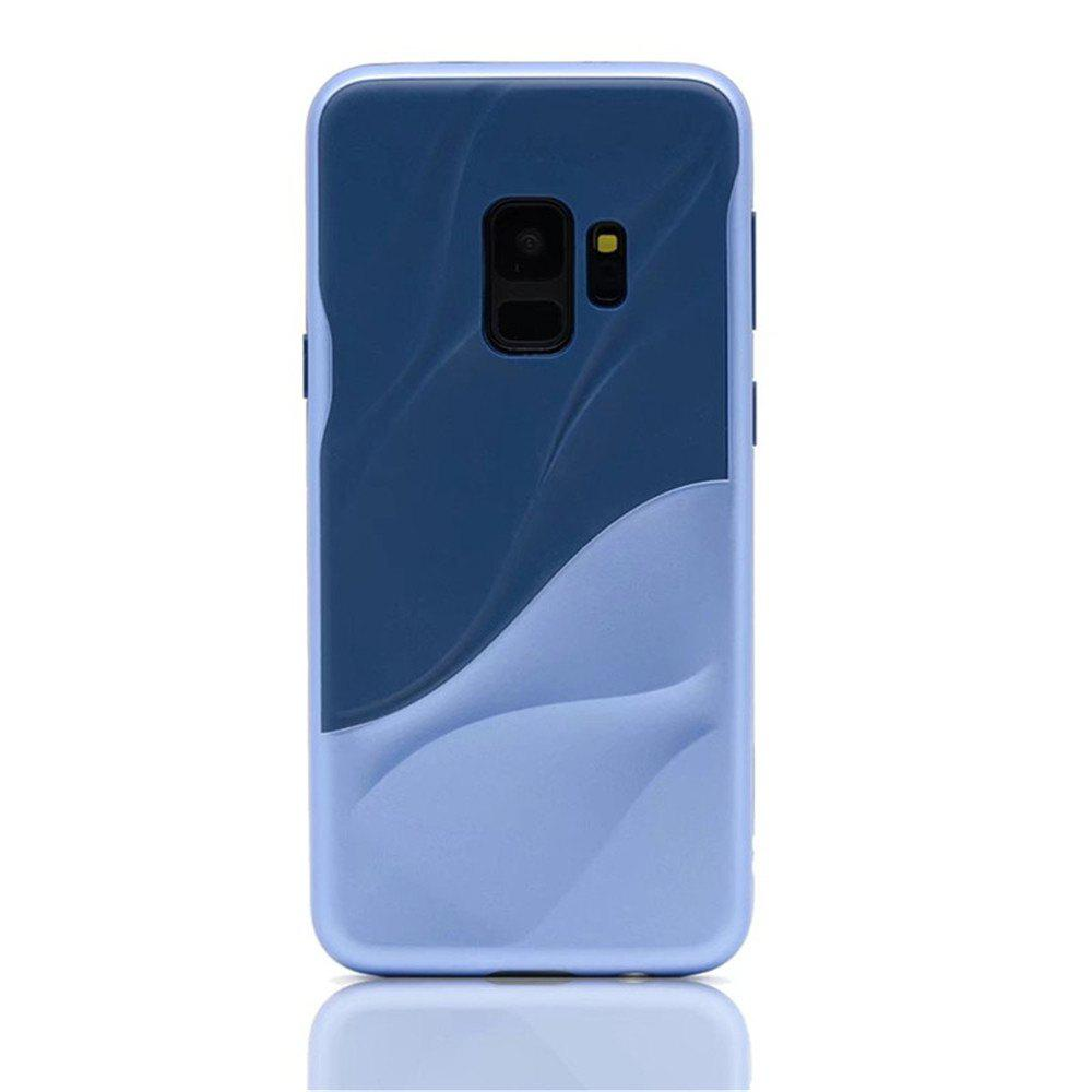Cover Case for Samsung S9 Silicone TPU+PC Hybrid Protective Water Ripples - BLUE