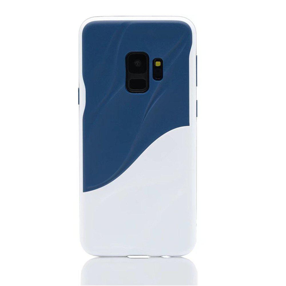 Cover Case for Samsung S9 Silicone TPU+PC Hybrid Protective Water Ripples - multicolor A