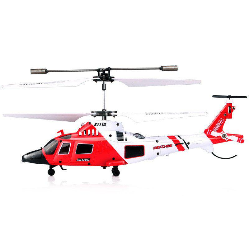 S111G 3.5CH Remote Control with LED Light RC Helicopter - RED