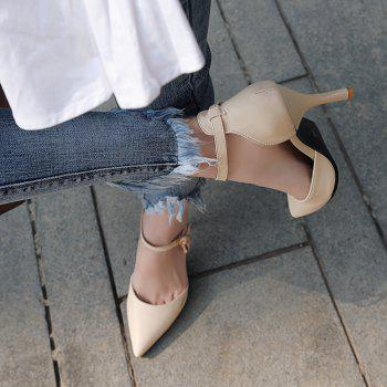 The New  Spiky Heels Style  Fashion Bagel Shoes - COOL WHITE 34