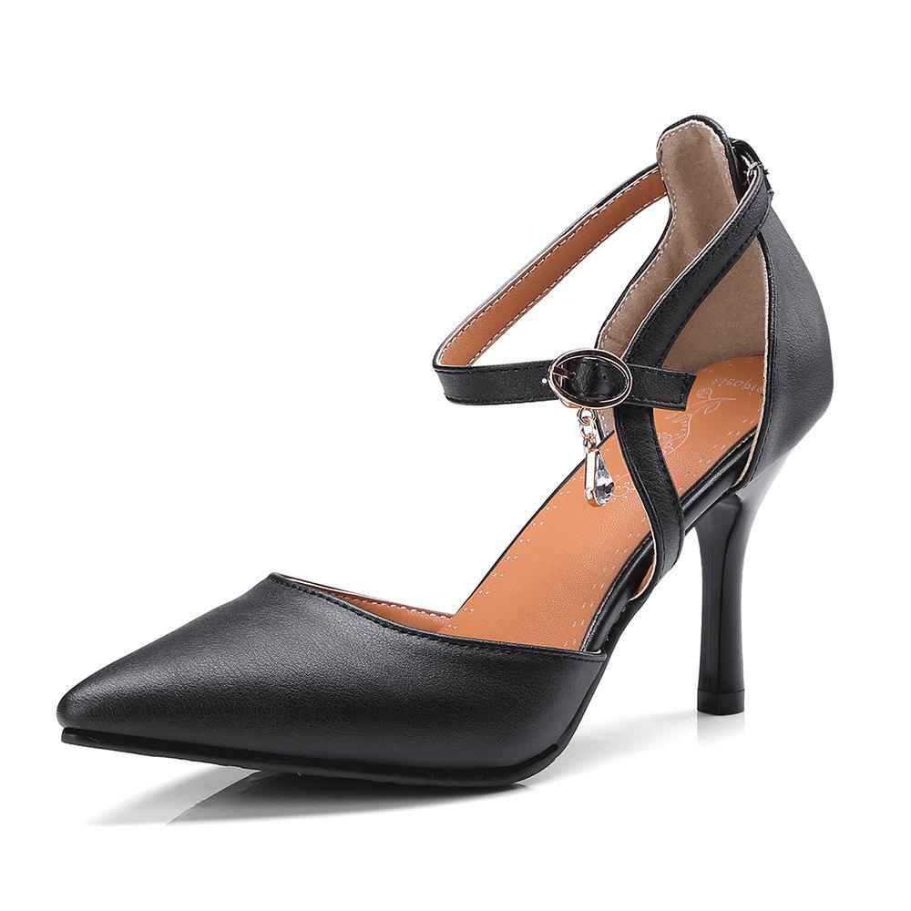 The New  Spiky Heels Style  Fashion Bagel Shoes - BLACK 38