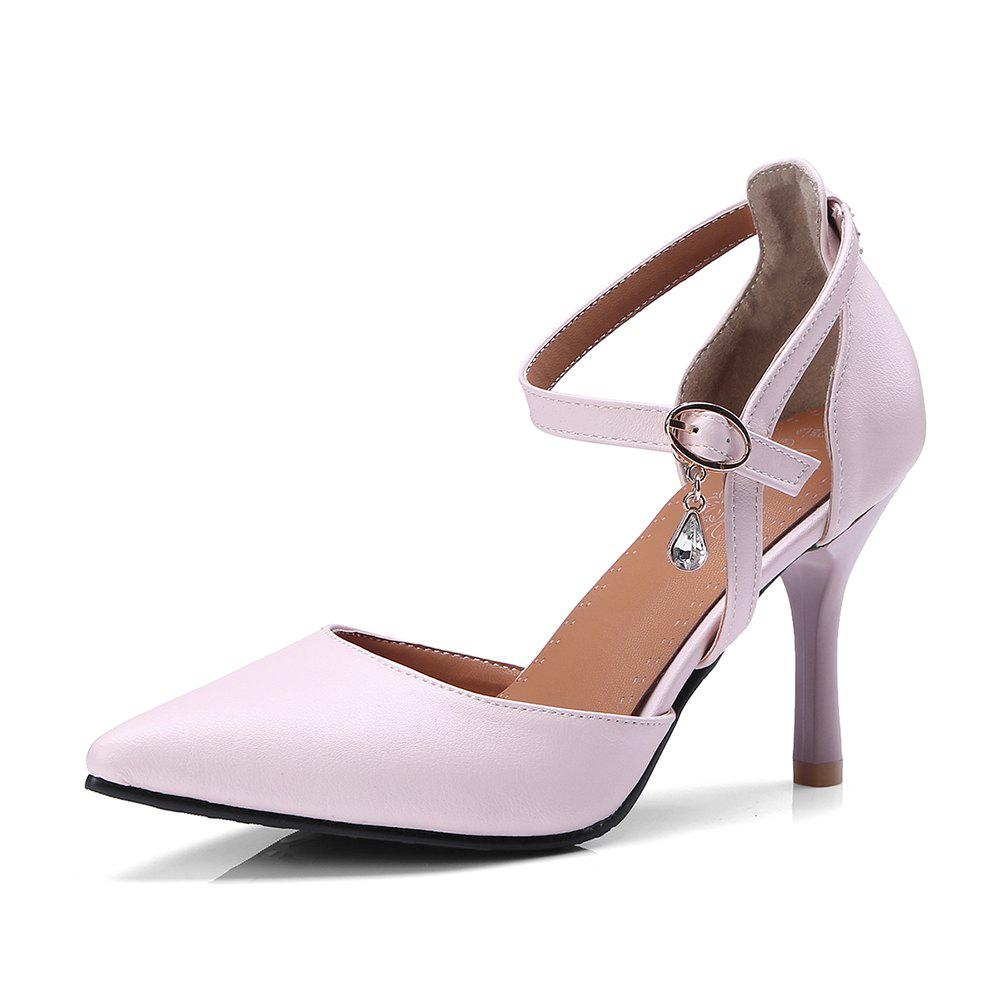 The New  Spiky Heels Style  Fashion Bagel Shoes - PINK 34