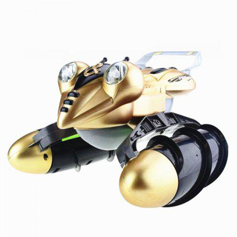 Children Remote Control Frog Toy Amphibious Car - GOLD