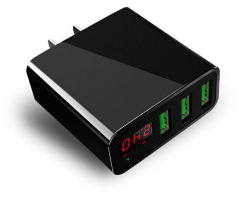 LED Display 2.4A Maximum AC Charger - BLACK