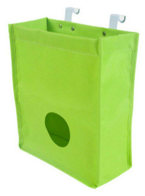 Hanging Oxford Cabinet Door Back Garbage Rubbish Bag Kitchen Grocery Storage Bag - YELLOW GREEN