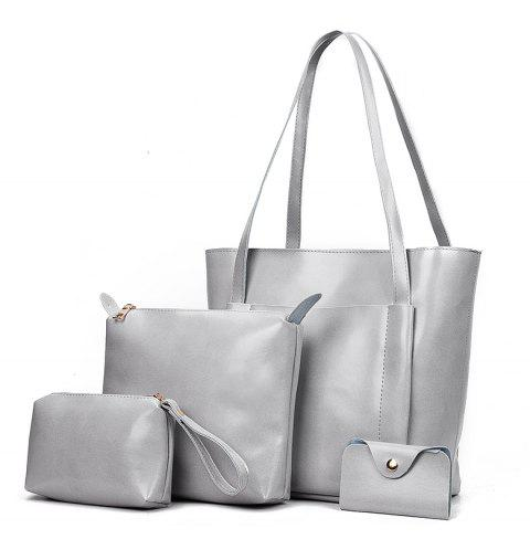 Mother Bag Female Fashion Simple Hand Shoulder Lady - GRAY