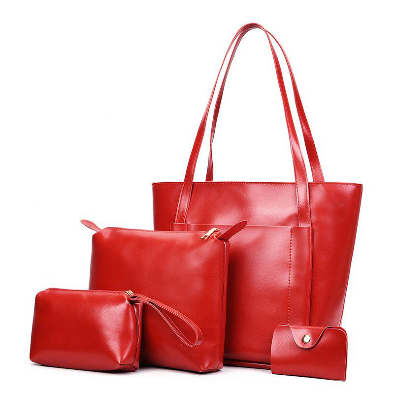 Mother Bag Female Fashion Simple Hand Shoulder Lady - RED