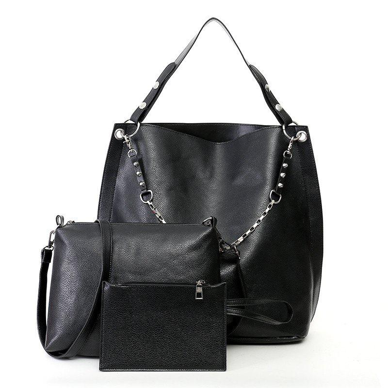 Fashion Lady Messenger Bag Atmosphere Shoulder - BLACK