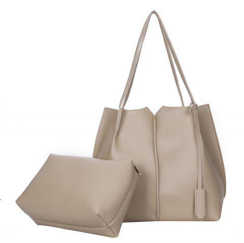 Shoulder Hand Tote Bag Simple Large-capacity Female - WARM WHITE