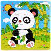 Baby Cartoon Animal Wooden Puzzle Educational Toys 9PCS - multicolor D