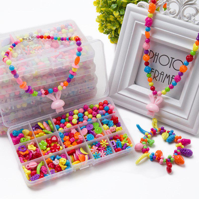 Children Educational Toys Handmade Materials Beads Package Creative Toys - multicolor B
