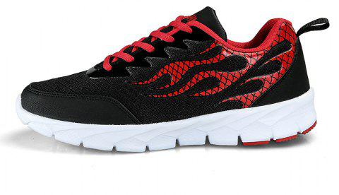 Flame Mesh Flying Men's Sneakers - BLACK 43