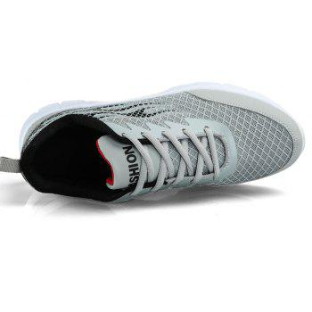 Flame Mesh Flying Men's Sneakers - LIGHT GRAY 41