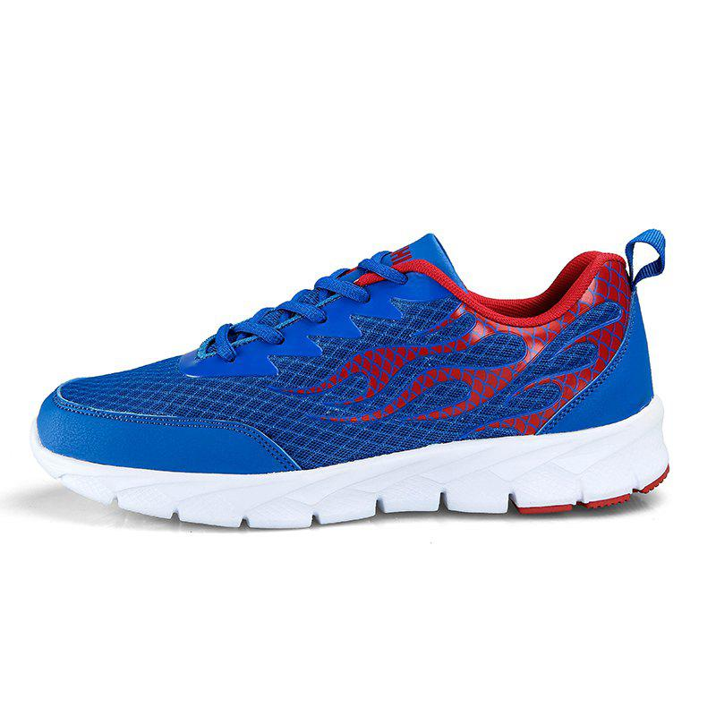 Flame Mesh Flying Men's Sneakers - OCEAN BLUE 44