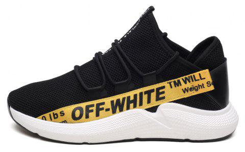 Flying Woven Breathable Mesh Men's Sports Shoes - YELLOW 41