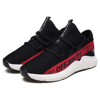 Flying Woven Breathable Mesh Men's Sports Shoes - RED 43