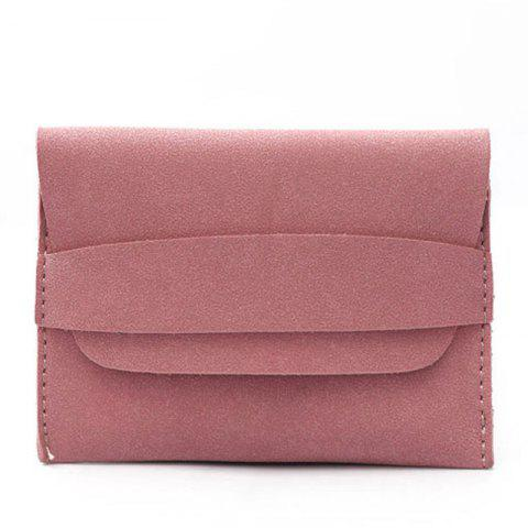 Girl Purse Short and Simple Purse Vintage Soft Wallet Girl Card Bag - DEEP PINK