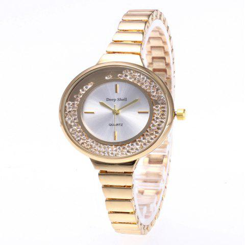 Fashion Quicksand Artificial Diamond Women Watch - GOLD