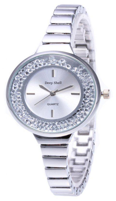 Fashion Quicksand Artificial Diamond Women Watch - SILVER
