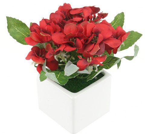 Butterfly Ceramic Skin Label Artificial Flower - RED