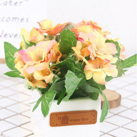 Butterfly Ceramic Skin Label Artificial Flower - YELLOW