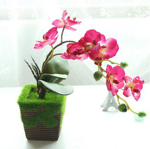 Butterfly Orchid Bonsai Artificial Flower - ROSE RED