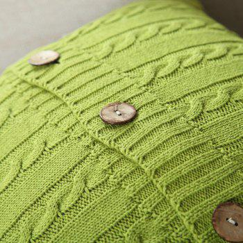 Double Side Wool Knitwear Knitted Cushion Cover - AVOCADO GREEN