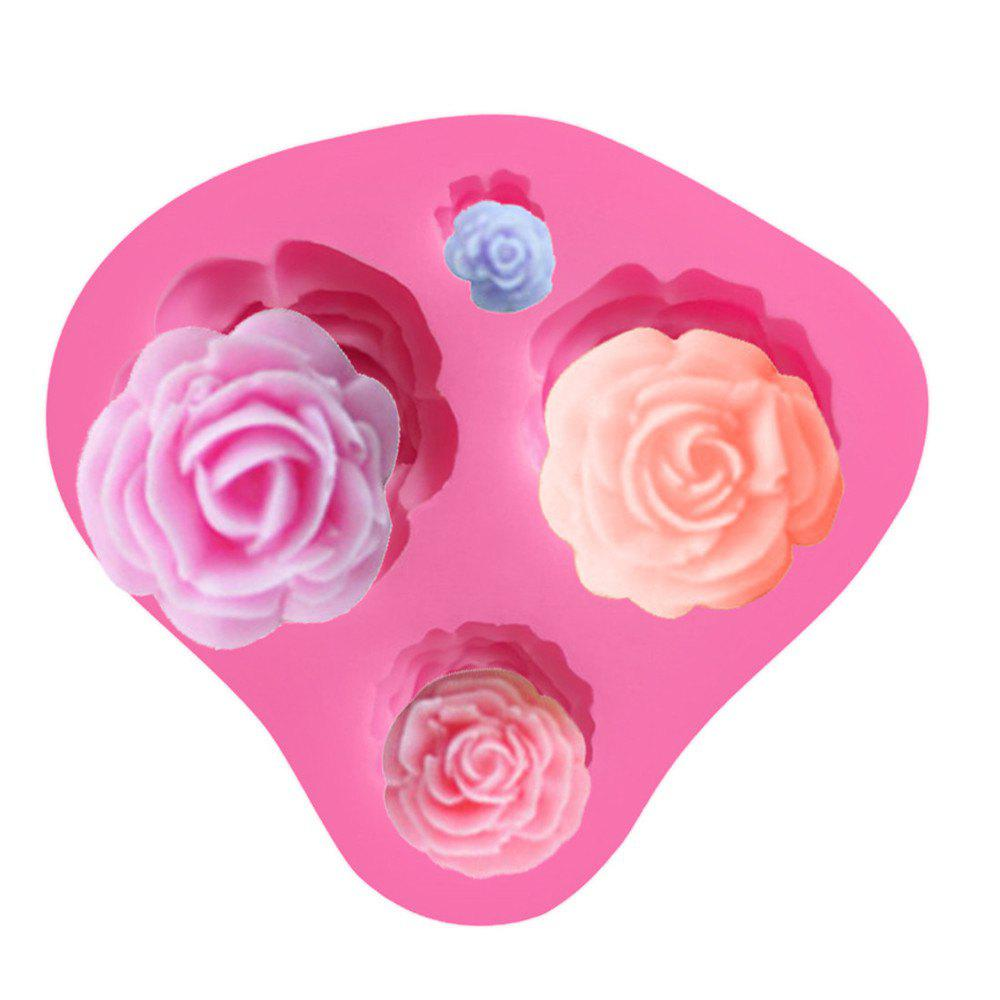 New Rose Silicone Cake Mold Baking Tools - PINK