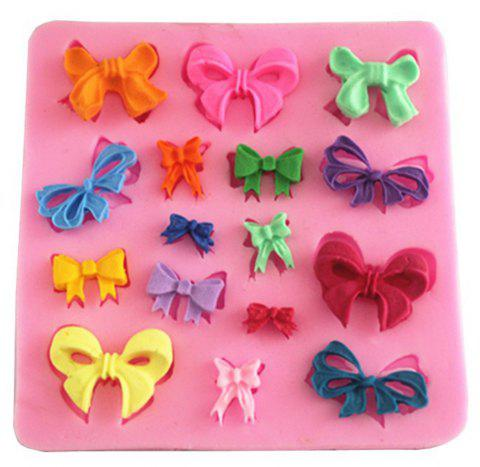 Creative Bow Silicone Fondant Chocolate Mould - PINK CUPCAKE
