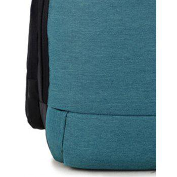 Casual Laptop Student Backpack - BLUE KOI