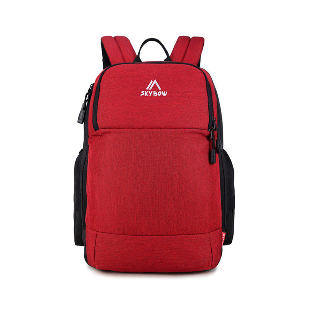 Casual Laptop Student Backpack - RED