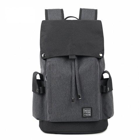 High Capacity Waterproof Computer Flip Shoulder Bag - DARK GRAY