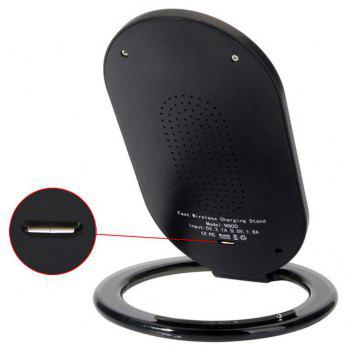 Cwxuan N900 10W Fast Wireless Charger Stand / Qi Charging Pad for Qi-devices - BLACK