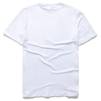 Creative Avatar 3D Printing T-shirt - WHITE XL