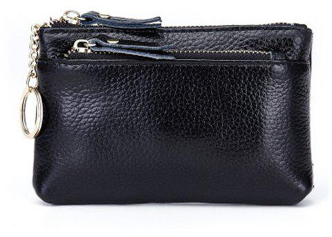 Big Capacity Women Wallets Ladies Clutch Female Fashion Leather Bags - BLACK