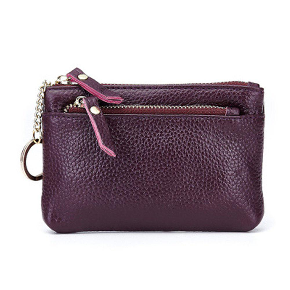 Big Capacity Women Wallets Ladies Clutch Female Fashion Leather Bags - VIOLET