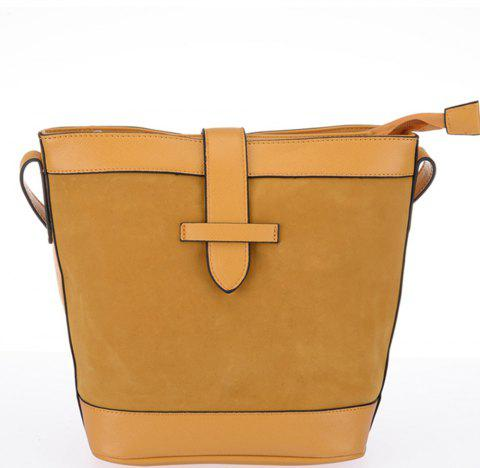 Women's Solid Color Traveling Large Capacity Casual Bag - YELLOW