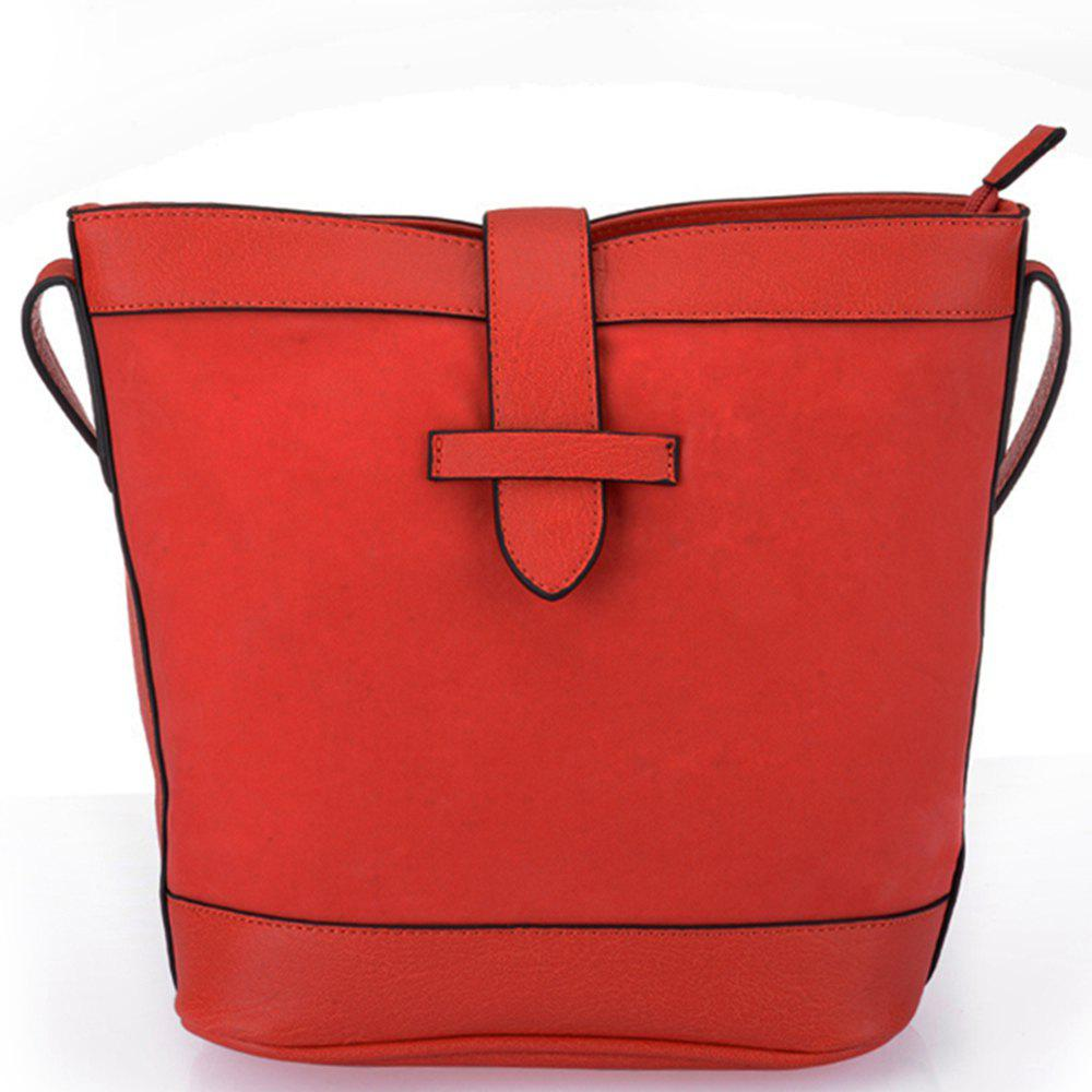 Women's Solid Color Traveling Large Capacity Casual Bag - SCARLET
